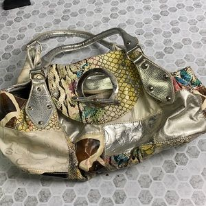 GG Collection Patch Work used Bag
